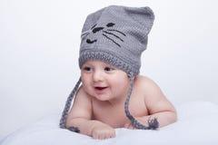 微笑的婴孩 免版税库存照片