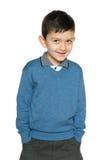 微笑的年轻男孩 免版税库存图片