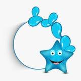 微笑的滑稽的海星动画片的概念 免版税库存照片