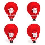 微笑的滑稽的迷人的肥满圣诞老人 圣诞节新年度 免版税库存图片