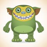 微笑的绿色妖怪 库存图片