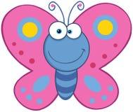 微笑的蝴蝶 库存照片