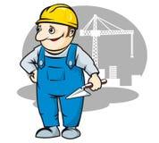 微笑的建造者 免版税库存图片