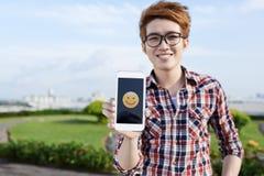微笑的emoji 免版税库存照片