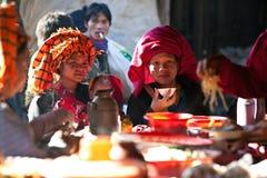 微笑的PaO部落人员,缅甸 免版税图库摄影