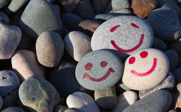 微笑石头 免版税库存图片