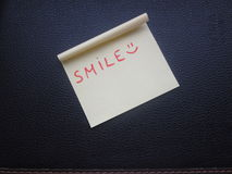 微笑笔记 免版税图库摄影