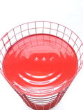 微笑红色白色背景 免版税图库摄影