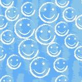 微笑面孔无缝的样式 传染媒介背景纹理 向量例证