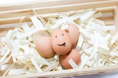 微笑鸡蛋 免版税库存照片