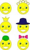 微笑,传染媒介例证,黄色 免版税库存照片