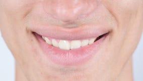微笑,关闭人的面孔嘴唇 库存照片