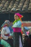 微笑,在老东范market的少数族裔女孩 图库摄影