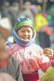 微笑,在老东范market的少数族裔孩子 免版税库存照片