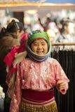 微笑,在老东范market的少数族裔孩子 免版税库存图片