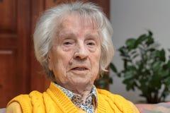 微笑,愉快的oldere妇女 免版税库存照片