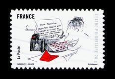 微笑-小尼古拉斯,个人问候serie,大约2009年 免版税库存图片