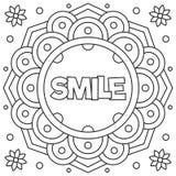 微笑 着色页 也corel凹道例证向量 库存图片