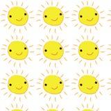 微笑黄色日出逗人喜爱的背景 免版税图库摄影