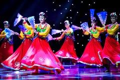微笑---韩国舞蹈 库存照片