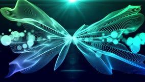 微粒绿色的介绍背景抽象动画 向量例证