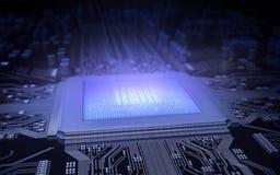 微芯片 库存例证