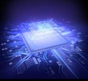 微芯片 向量例证