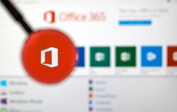 微软办公软件应用 图库摄影