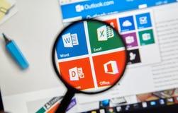 微软办公软件词, Excel 免版税库存照片