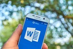 微软办公软件365词 免版税库存照片