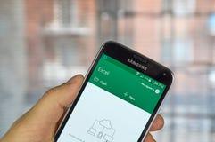 微软办公软件Excel流动app 免版税图库摄影
