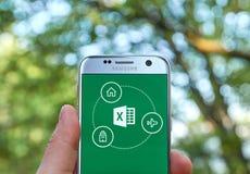 微软办公软件Excel app 免版税库存照片