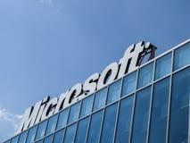 微软办公系统大厦 免版税图库摄影