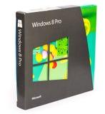 微软视窗8专家零售箱子 库存照片