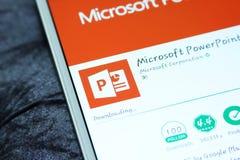 微软powerpoint流动app 图库摄影