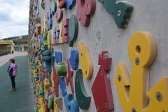 微风攀岩墙壁 免版税库存图片