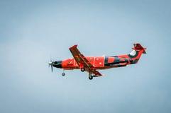 德克斯特航空Pilatus PC-12/47 RA-01505 免版税库存图片