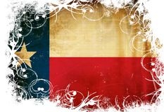 德克萨斯的旗子 免版税库存照片