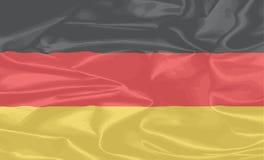 德国丝绸旗子背景 免版税库存图片