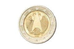 德国两欧元硬币 免版税图库摄影