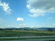 德国乡下凉快的下午视图 库存图片
