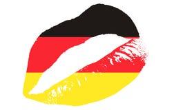 德国亲吻 库存照片