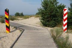 德国人波兰边界 库存图片
