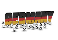 德国人爱足球 库存例证