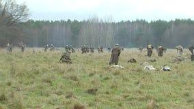 德国人的攻击俄国士兵