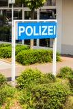 德国人Polizei (警察)标志 库存图片