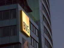 德国公共交通工具公司BVG的标志 库存照片