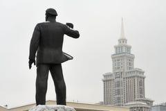 德国共产主义厄恩斯特萨尔曼的雕象在莫斯科 免版税库存图片