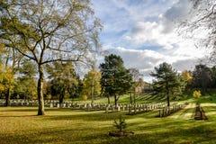 德国军事战争公墓在斯塔福德郡,英国 免版税图库摄影