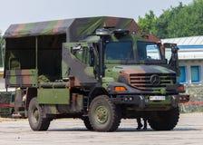 德国军队卡车,奔驰车Zetros 免版税库存图片
